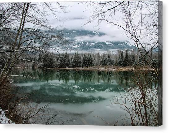 Snowy Reflection Canvas Print