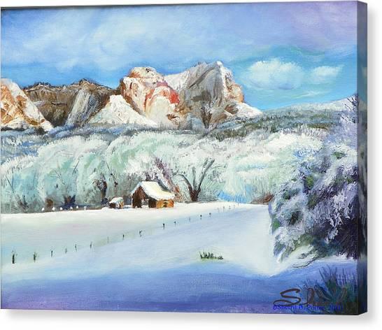 Snowy Sugar Knoll Canvas Print