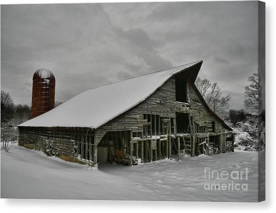 Snowy Thunder Canvas Print