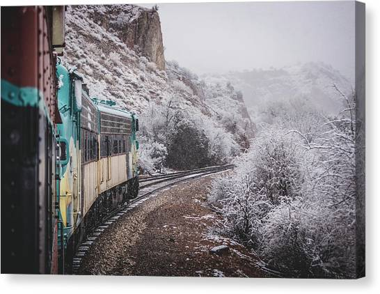 Snowy Verde Canyon Railroad Canvas Print
