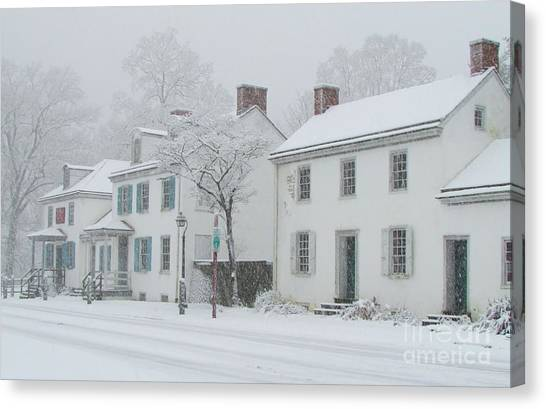 Notable Canvas Print - Snowy Washington Crossing by Anne Ditmars
