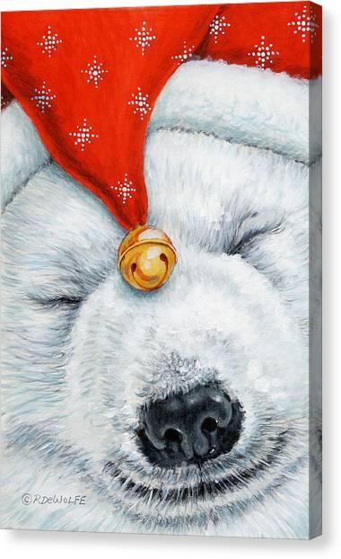 Snuggy Bear Canvas Print