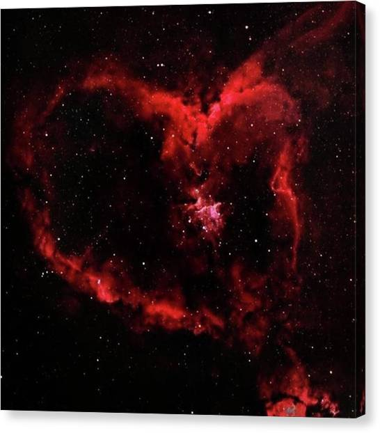 Astronauts Canvas Print - So Beautiful! Heart Shaped by Dominik Hofer