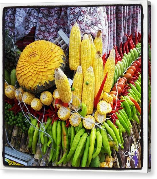 Canvas Print featuring the photograph So, Elephants Eat Red Hot Chile by Mr Photojimsf
