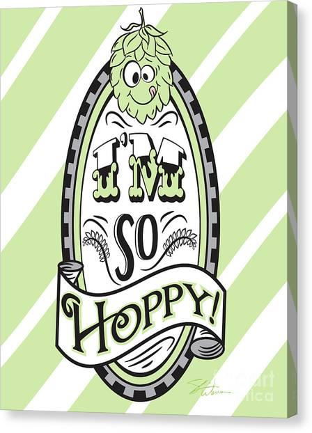 Craft Beer Canvas Print - So Hoppy by Shari Warren