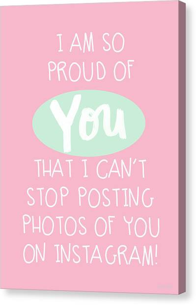 Graduation Canvas Print - So Proud Of You- Pink by Linda Woods