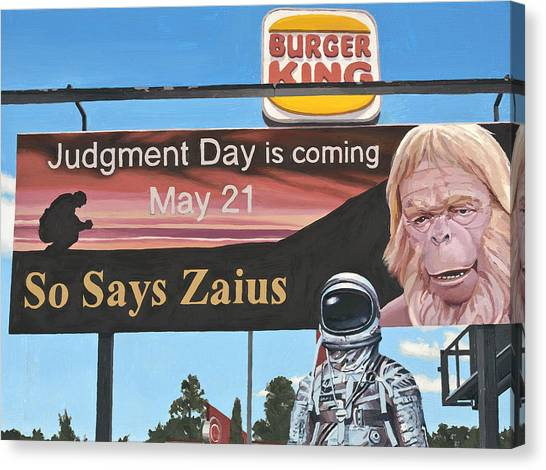 Astronauts Canvas Print - So Says Zaius by Scott Listfield