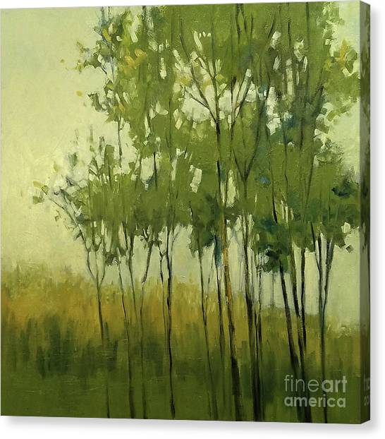 So Tall Tree Forest Landscape Painting Canvas Print