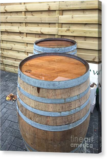 Craft Beer Canvas Print - Soaked Barrels by Evan N