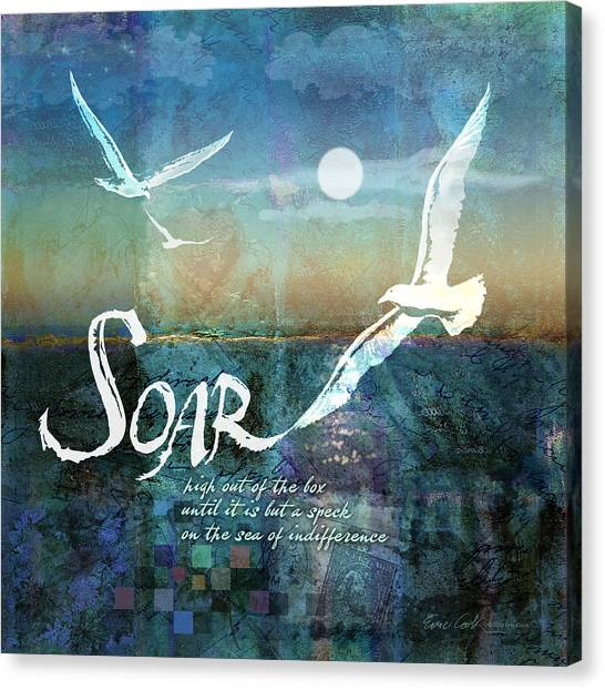 Celebration Canvas Print - Soar by Evie Cook