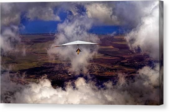 Soaring Through The Clouds Canvas Print