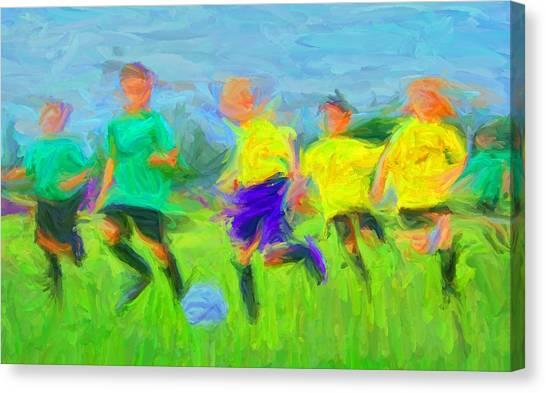 Soccer 3 Canvas Print