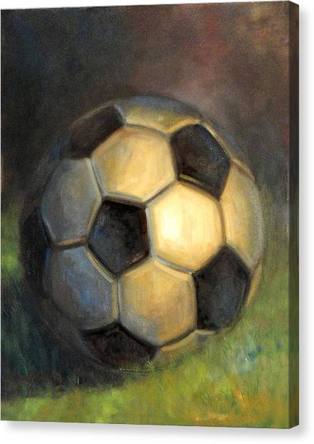 Diego Maradona Canvas Print - Soccer Ball  by Hall Groat