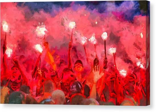 Soccer Fans Pictures Canvas Print
