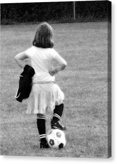 Soccer Fashionista Canvas Print by Keith Campagna