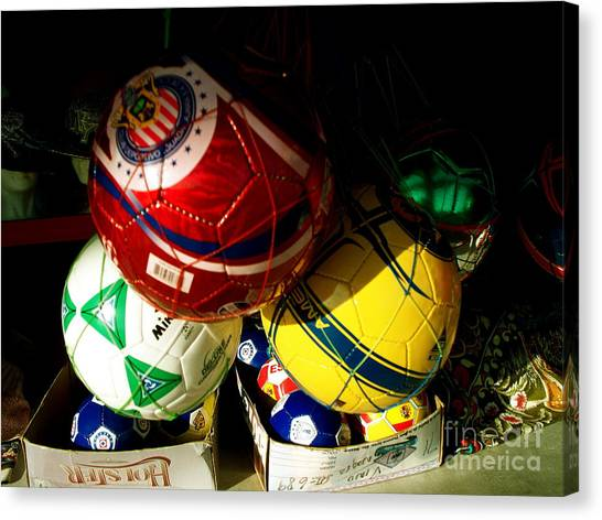 Soccer For Sale Canvas Print by Chuck Taylor