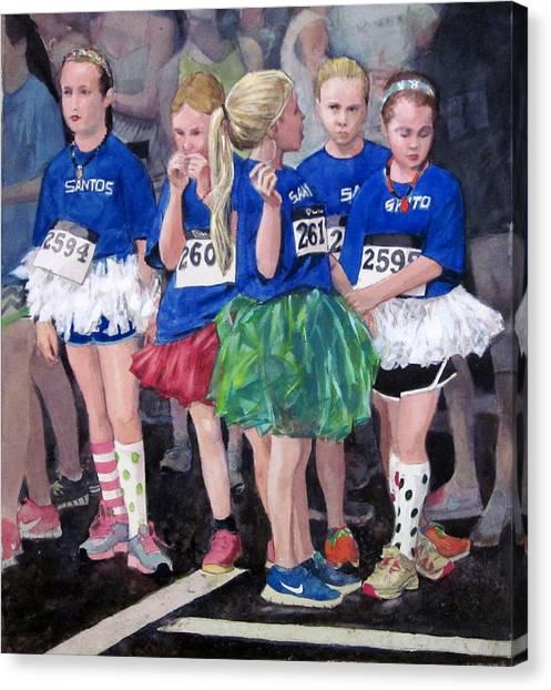 Soccer Girls Canvas Print