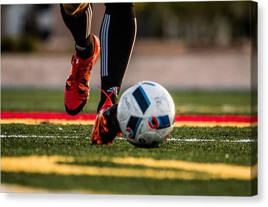 Soccer Canvas Print - Soccer by Hyuntae Kim