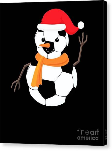 Canvas Print - Soccer Snowman by Thomas Larch