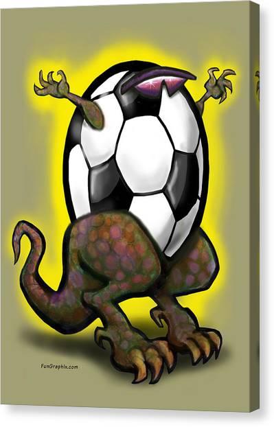 Soccer Zilla Canvas Print