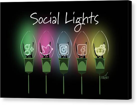 Social Lights Canvas Print