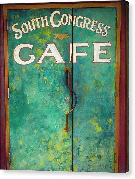 Soco Cafe Doors Canvas Print