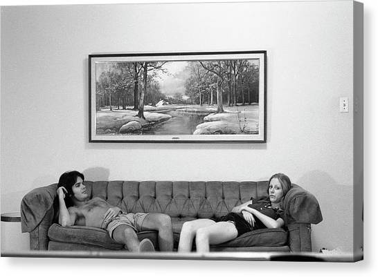 Sofa-sized Picture, With Light Switch, 1973 Canvas Print
