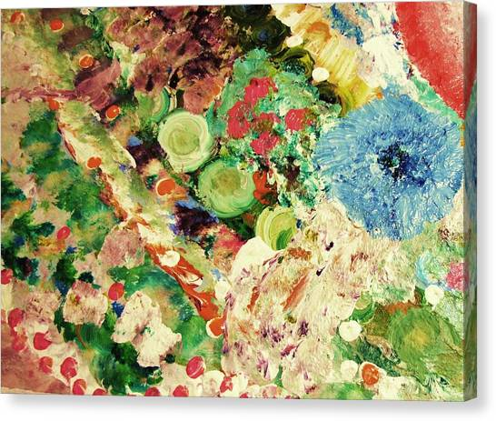 Sofia's Flower's Canvas Print by HollyWood Creation By linda zanini