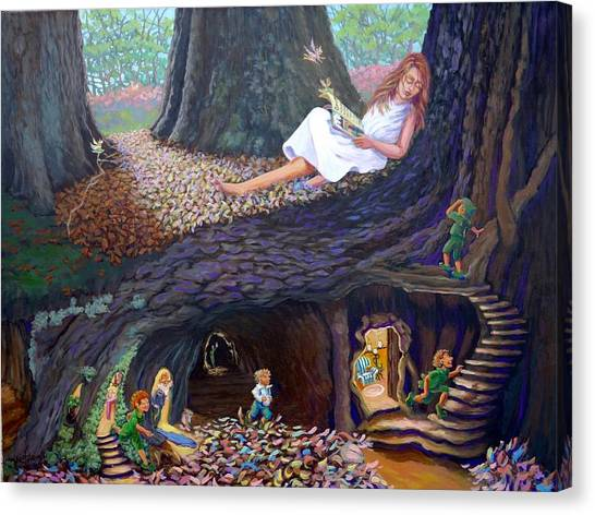 Canvas Print featuring the painting Sofie's Dream  by Jeanette Jarmon