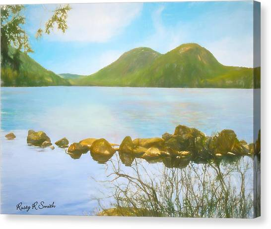 Soft Art Photograph Jordan Pond Acadia Nat. Park Maine Canvas Print