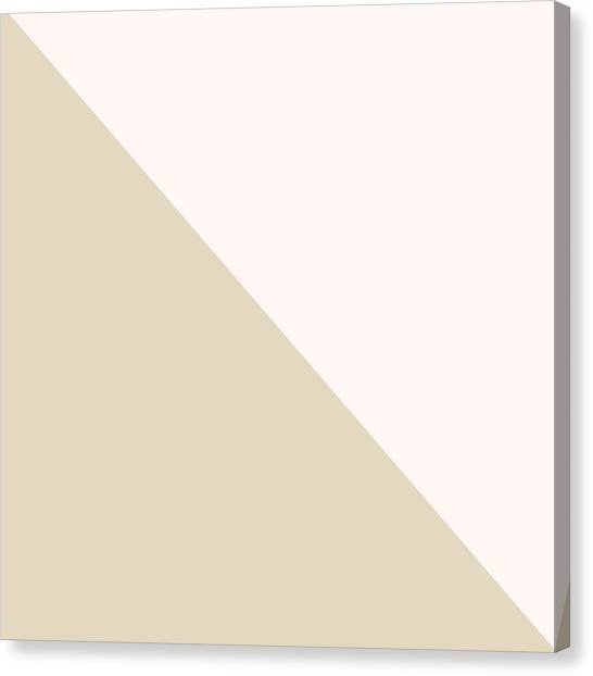 Triangles Canvas Print - Soft Blush And Champagne by Linda Woods