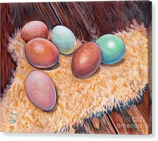 Soft Eggs Canvas Print