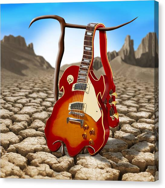 Music Canvas Print - Soft Guitar II by Mike McGlothlen