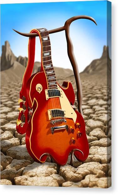 Dali Canvas Print - Soft Guitar by Mike McGlothlen