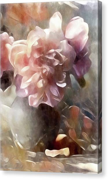 Soft Pastel Peonies Canvas Print