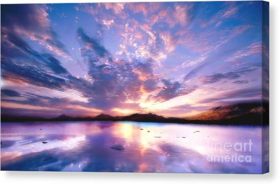 Soft Setting Canvas Print