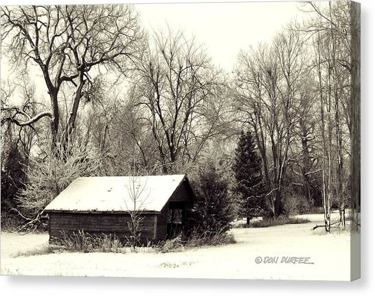 Canvas Print - Soft Snow Cover by Don Durfee