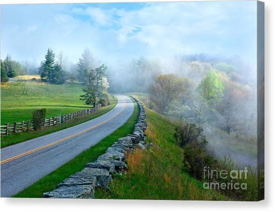 Soft Spring Morning On Blue Ridge Parkway I Canvas Print