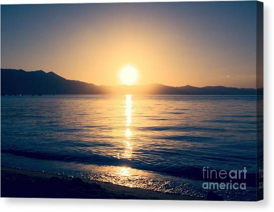 Soft Sunset Lake Canvas Print