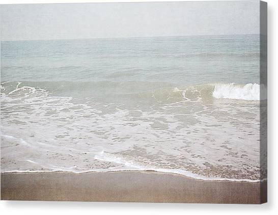 Florida House Canvas Print - Soft Waves- Art By Linda Woods by Linda Woods