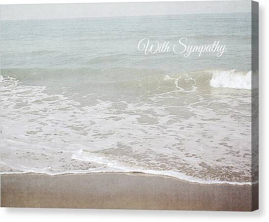 Sympathy Canvas Print - Soft Waves Sympathy Card- Art By Linda Woods by Linda Woods