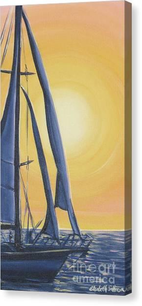 Softly Setting Sun Canvas Print