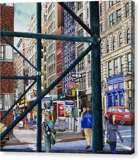 Soho Area New York Canvas Print