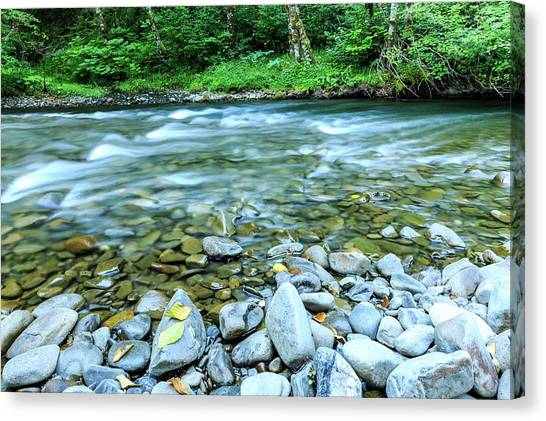 Sol Duc River In Summer Canvas Print