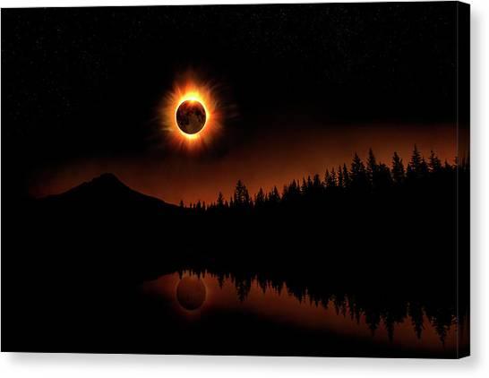 Solar Eclipse 2017 Canvas Print