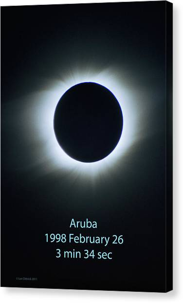Solar Eclipse Aruba 1998 Canvas Print