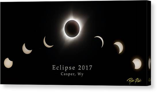 Canvas Print featuring the photograph Solar Eclipse Collage 2 by Rikk Flohr