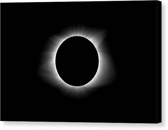 Solar Eclipse Ring Of Fire Canvas Print