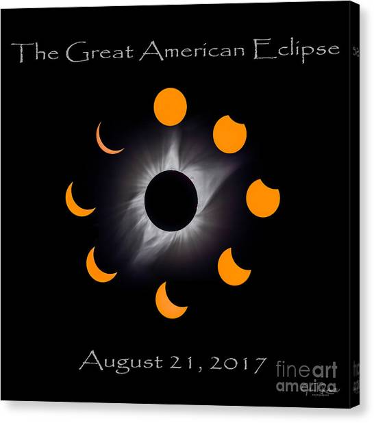 Solar Eclipse Stages Canvas Print