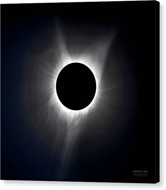 Solar Eclipse Totality Corona Canvas Print